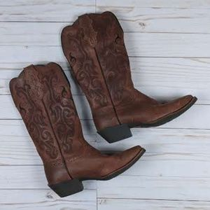 Justin Western Boots Pointed Toe 6.5B L2559